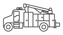 ORO M6 illustrated mechanic truck body icon.