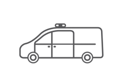 ORO commercial and trade van illustrated icon.