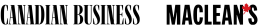 Canadian Business magazine and Maclean's magazine logo.